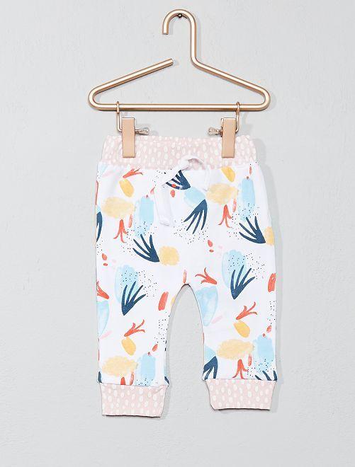 Pantaloni da tuta stampa cotone bio                             multicolore Neonata