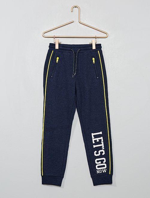 Pantaloni da tuta stampati                                                     BLU