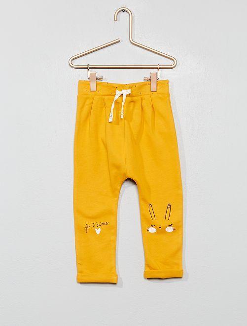 Pantaloni da tuta stampati                                                     giallo Neonata