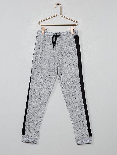 Pantaloni da tuta strisce laterali                                         GRIGIO Infanzia bambino