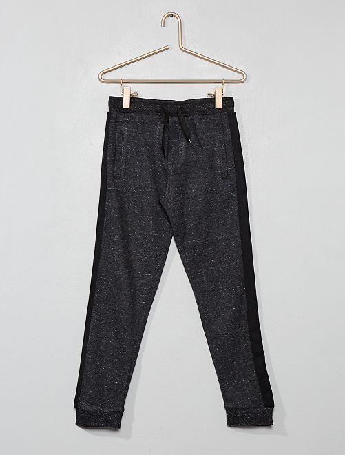 Pantaloni da tuta strisce laterali                                                     NERO Infanzia bambino