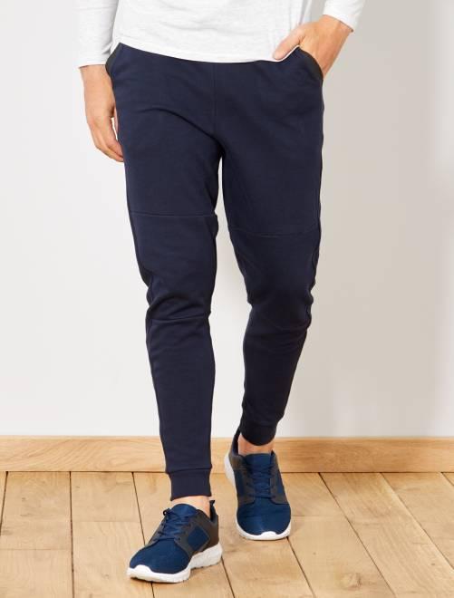 Pantaloni da tuta tasche a contrasto                             BLU Uomo