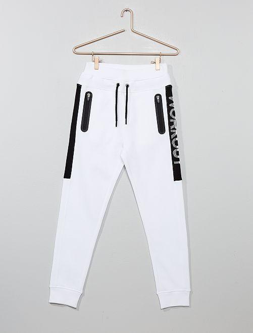 Pantaloni da tuta tasche con zip                     BIANCO Ragazzo