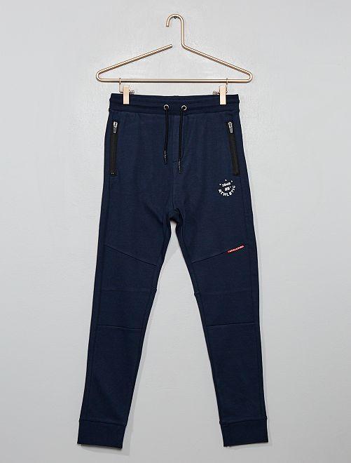 Pantaloni da tuta tasche con zip                                                     BLU