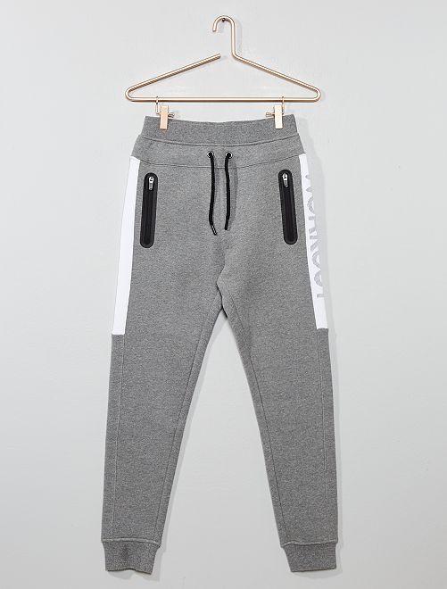 Pantaloni da tuta tasche con zip                                                                 GRIGIO Ragazzo