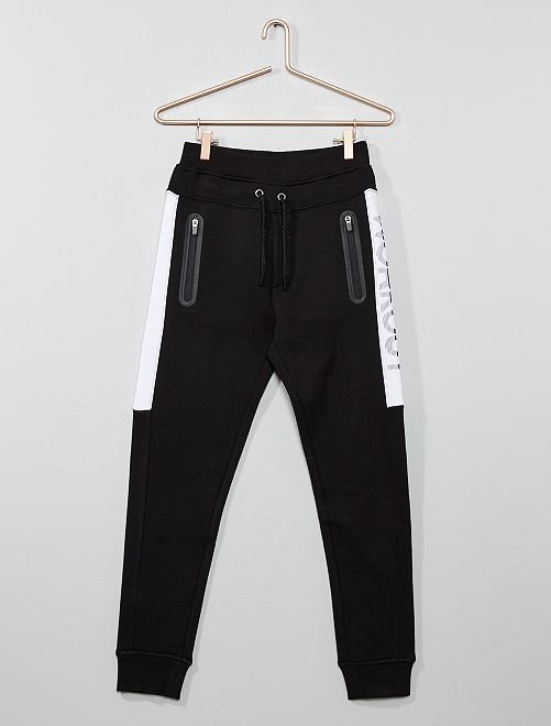 Pantaloni da tuta tasche con zip                                                                 NERO Ragazzo