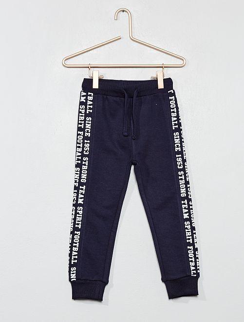 Pantaloni da tuta tessuto felpato                                         BLU Infanzia bambino