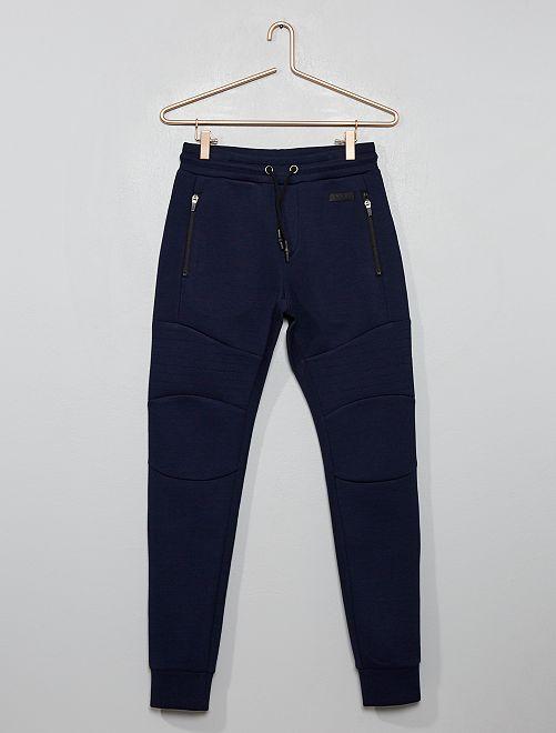 Pantaloni da tuta tessuto felpato                                                                 blu
