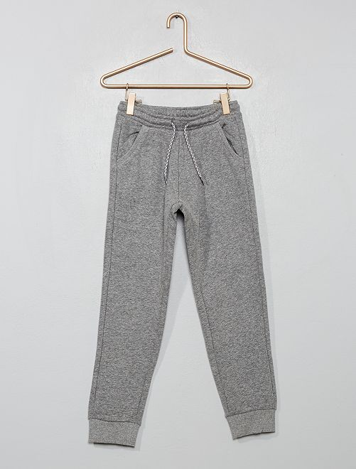 Pantaloni da tuta tessuto felpato                                                     GRIGIO