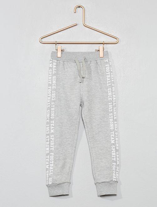 Pantaloni da tuta tessuto felpato                                         grigio Infanzia bambino