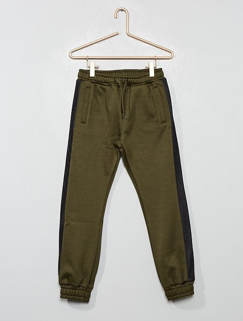 Pantaloni da tuta tessuto felpato                                         KAKI