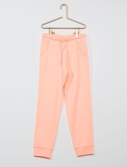 Pantaloni da tuta tessuto felpato                                                     ROSA