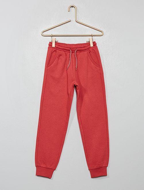 Pantaloni da tuta tessuto felpato                                                     rosso granata