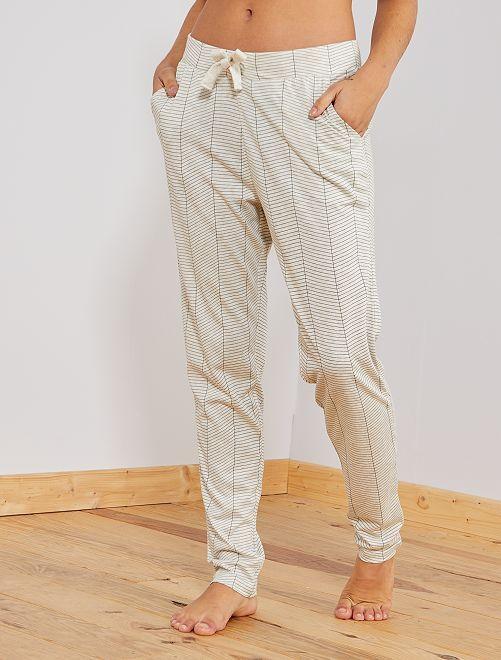 Pantaloni del pigiama stampati                                                                 BEIGE Intimo dalla s alla xxl