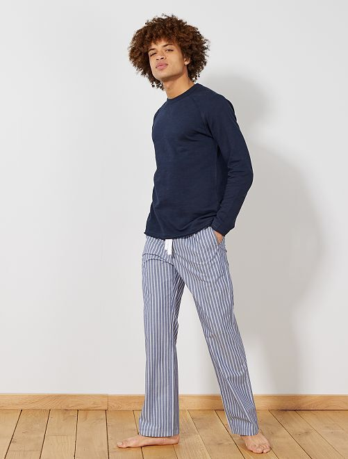 Pantaloni del pigiama stampati                                         BLU Uomo