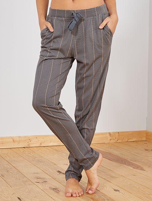 Pantaloni del pigiama stampati                                         GRIGIO Intimo dalla s alla xxl