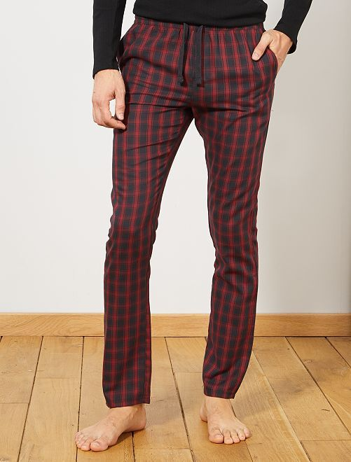 Pantaloni di pigiama a quadretti                                                     GRIGIO