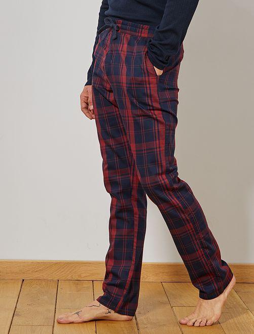 Pantaloni di pigiama a quadretti                                                     ROSSO