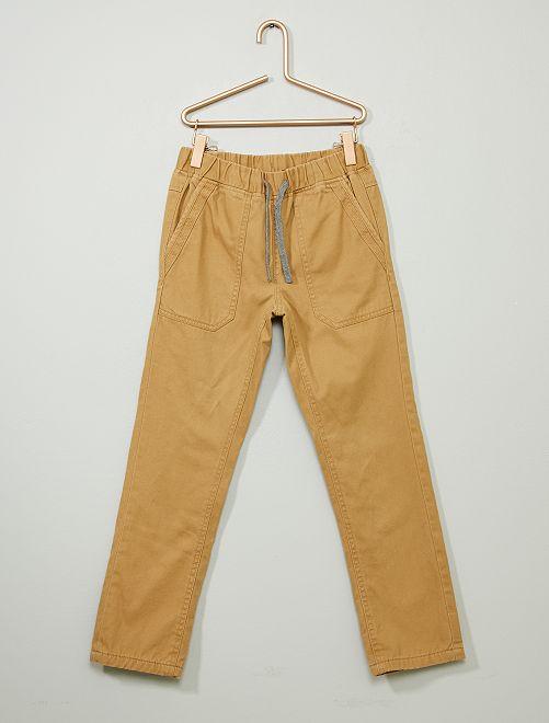 Pantaloni dritti caldi                     BEIGE