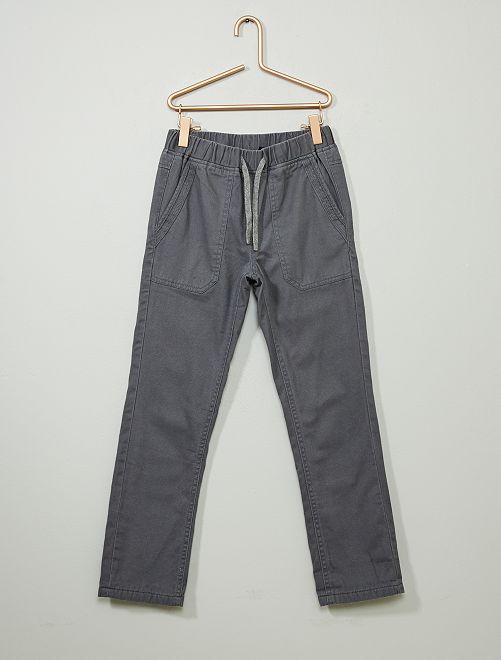 Pantaloni dritti caldi                                                                 GRIGIO