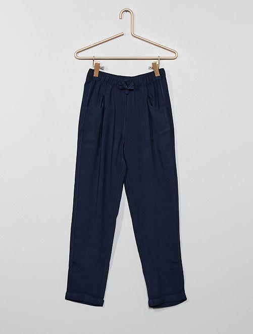 Pantaloni dritti fluidi                                         blu