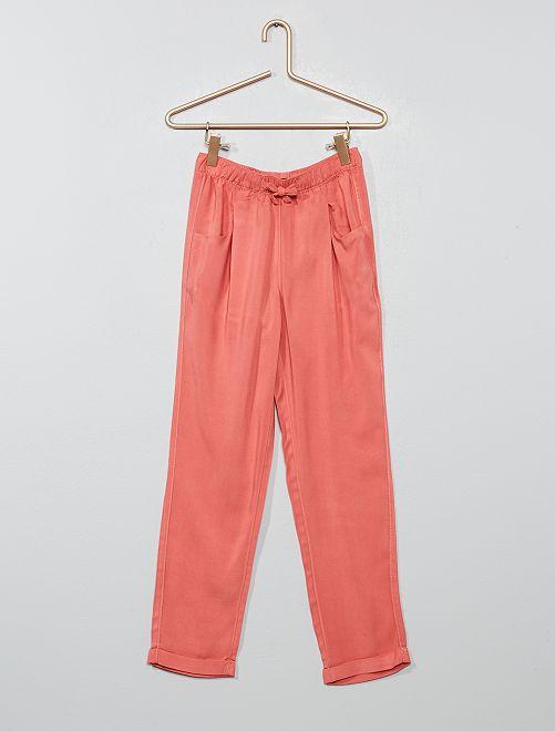Pantaloni dritti fluidi                                         rosa antico Infanzia bambina