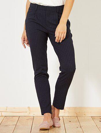 Donna dalla 38 alla 52 - Pantaloni dritti pince a righe - Kiabi