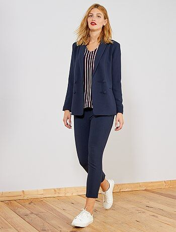 Pantaloni dritti stile tailleur - Kiabi afa1a5347a85