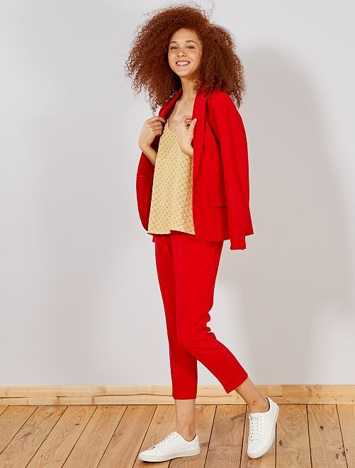 Pantaloni dritti stile tailleur                                                                 ROSSO Donna