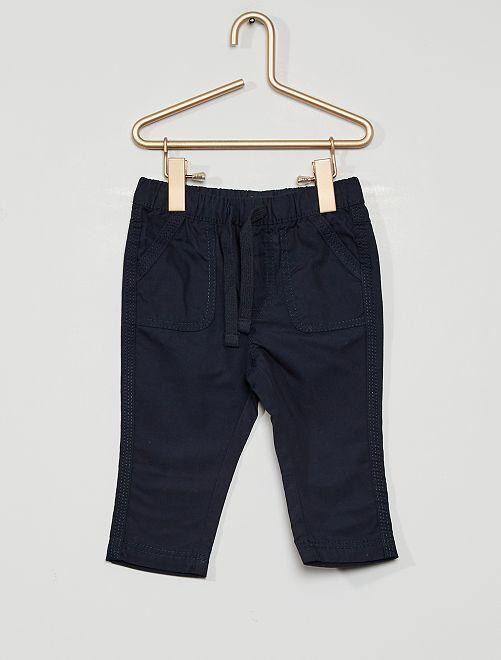 Pantaloni eco-sostenibili                                                                             blu