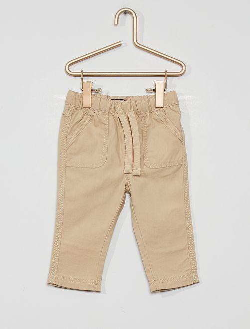 Pantaloni eco-sostenibili                                                                             grigio beige