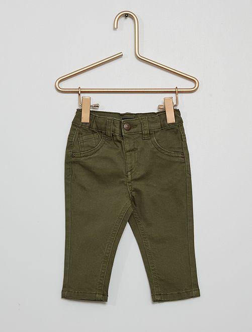 Pantaloni eco-sostenibili                                                                             verde scuro