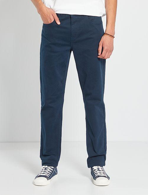 Pantaloni fitted 5 tasche L36 + 1 m 90                                                                             BLU