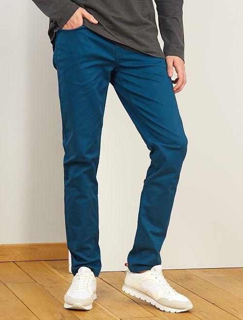 Pantaloni fitted 5 tasche L38 + 1 m 90                                                                                                     blu