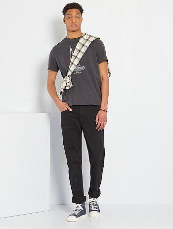 Pantaloni fitted 5 tasche L38 + 1 m 90 - Kiabi