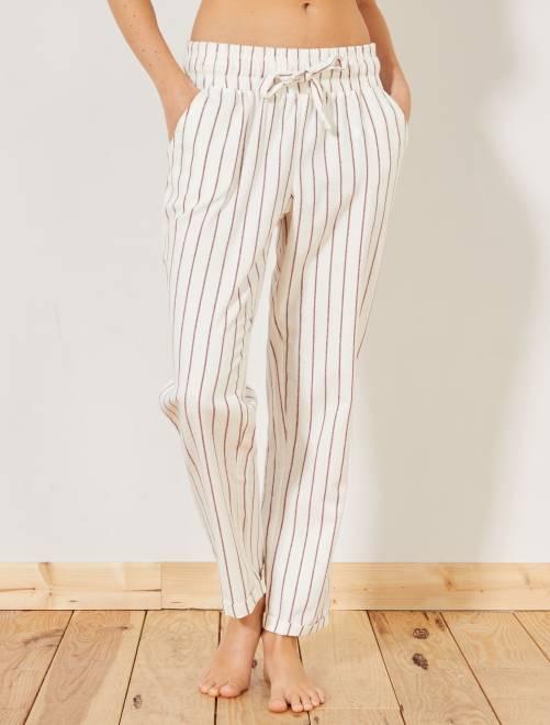 Pantaloni flanella stampati                     BLU Intimo dalla s alla xxl