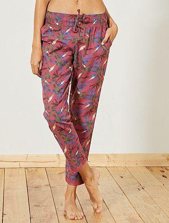 Pantaloni flanella stampati - Kiabi