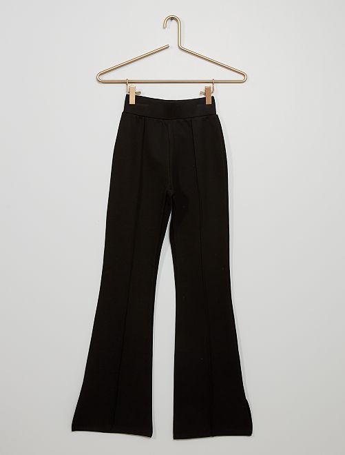 Pantaloni flare in maglia milano                             nero