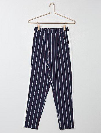 Bambina 10-18 anni - Pantaloni fluidi a righe - Kiabi e1d85a742a0