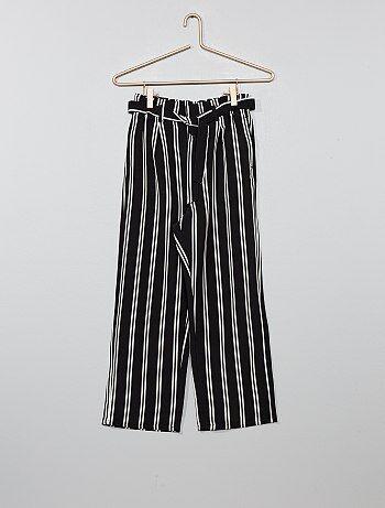 4bcc5d4034 Saldi pantaloni larghi, comfort, con dettagli Ragazza | Kiabi