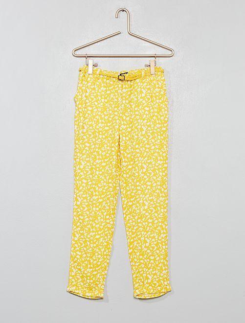 Pantaloni fluidi + cintura                                                                                         GIALLO Infanzia bambina