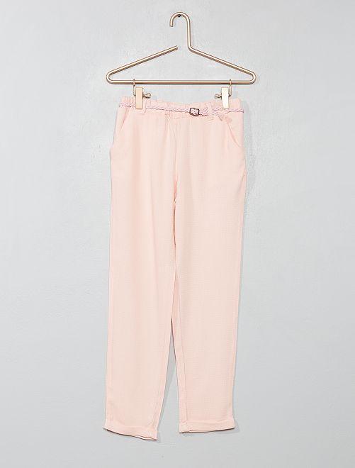 Pantaloni fluidi + cintura                                                                                         rosa chiaro Infanzia bambina