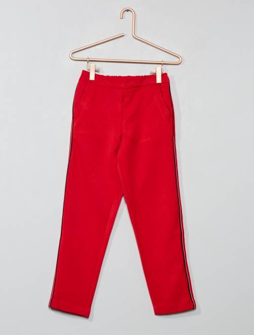 Pantaloni fluidi con strisce                                         rosso Infanzia bambina