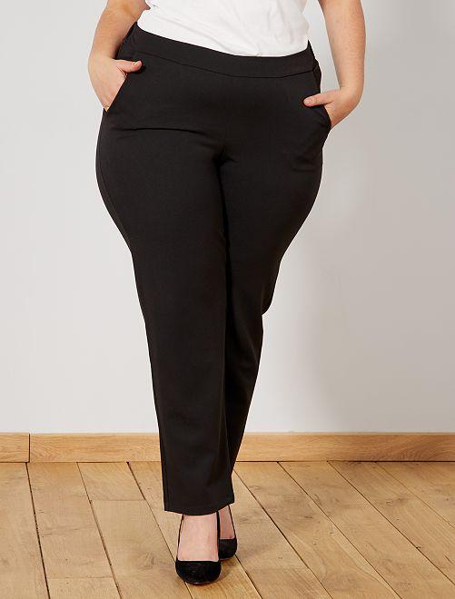 Pantaloni fluidi elastico in vita                             nero