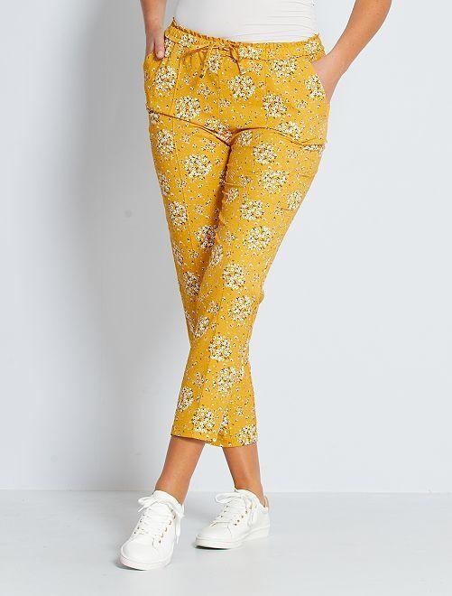 Pantaloni fluidi stampati                                                                                                                                         GIALLO