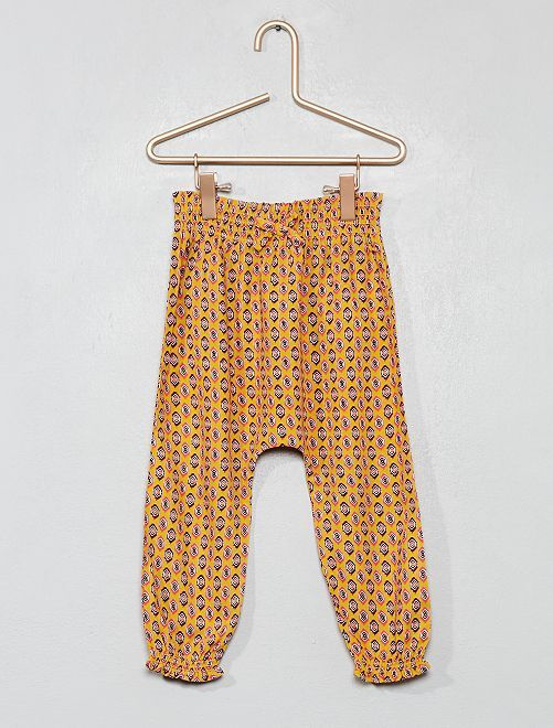 Pantaloni fluidi stampati                                                     GIALLO Neonata