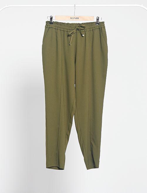 Pantaloni fluidi stampati                                                                                         KAKI