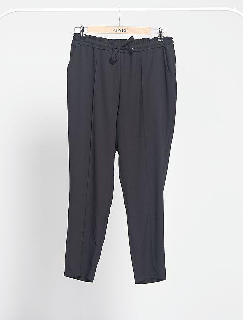 Pantaloni fluidi stampati                                                                                                                             nero