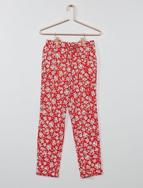 Pantaloni fluidi stampati                                                                             ROSSO Infanzia bambina