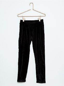 Pantaloni fluidi velluto stretch